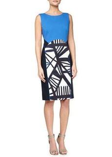 Lafayette 148 New York Dixie Sleeveless Sheath Dress, Ink/Multicolor