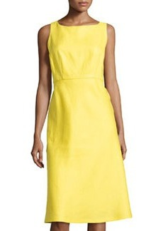 Lafayette 148 New York Dora Linen Sleeveless Dress, Lemon Drop