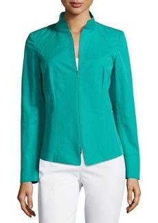 Lafayette 148 New York Doris Marcella Cloth Zip Jacket