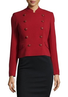 Lafayette 148 New York Double-Breasted Wool Jacket