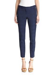 Lafayette 148 New York Downtown Jacquard-Pattern Skinny Pants