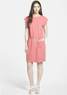 Lafayette 148 New York Drawstring Waist Jersey Dress