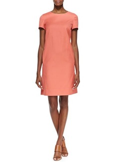 Lafayette 148 New York Drea Short Sleeve Shift Dress, Grapefruit