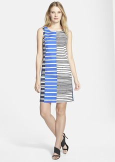 Lafayette 148 New York 'Drita' Stripe Sleeveless Shift Dress (Regular & Petite)