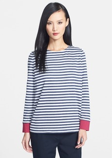 Lafayette 148 New York Drop Hem Stripe Tee