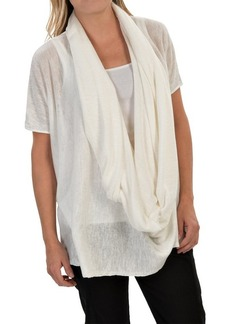 Lafayette 148 New York Drop Oversized Shirt- Cowl Neck, Short Sleeve (For Women)