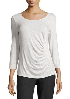 Lafayette 148 New York Eclipse 3/4-Sleeve Ruched Top
