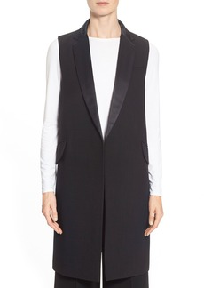 Lafayette 148 New York 'Edie' Double Face Stretch Wool Long Vest