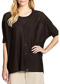 Lafayette 148 New York Elbow-Sleeve Boxy Cardigan
