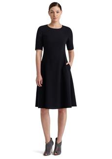 Lafayette 148 New York Elbow Sleeve MilanoKnitA-Line Dress