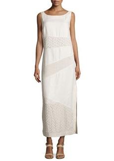 Lafayette 148 New York Elena Sleeveless Eyelet Dress, Raffia