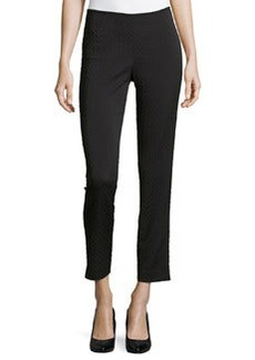 Lafayette 148 New York Elite Octagon Slim-Leg Pants, Black