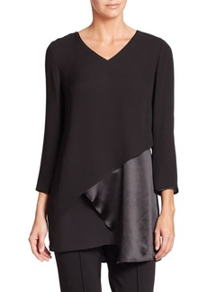 Lafayette 148 New York Ellie Asymmetrical Silk Blouse