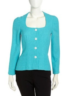 Lafayette 148 New York Elouise Tweed Jacket, Agave