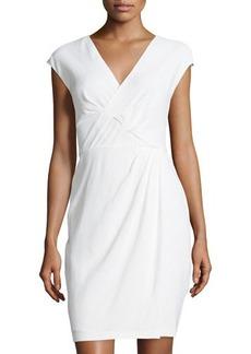 Lafayette 148 New York Elsa Cap-Sleeve Faux-Wrap Dress