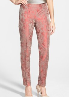 Lafayette 148 New York Embossed Jacquard Skinny Pants