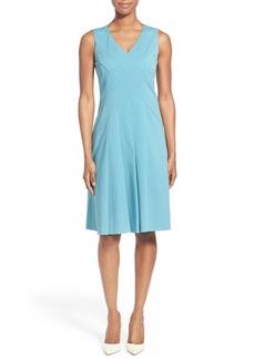Lafayette 148 New York 'Emery' Sleeveless Fit & Flare Dress (Regular & Petite)