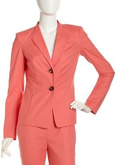 Lafayette 148 New York Envelope-Collar Stretch Jacket, Dragonfruit