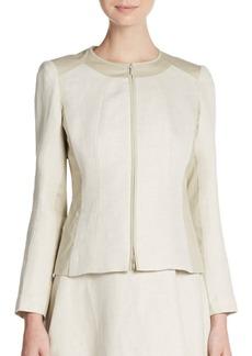 Lafayette 148 New York Essa Linen & Cotton Jacket