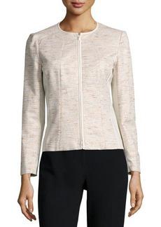 Lafayette 148 New York Essa Zip-Front Jacket