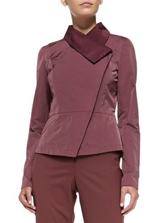 Lafayette 148 New York Estelle Asymmetric Peplum Jacket