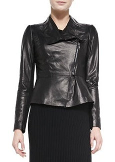 Lafayette 148 New York Estelle Lambskin Leather Jacket