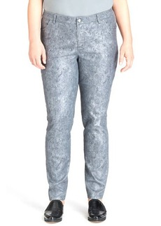 Lafayette 148 New York Etched Printed Curvy Slim-Leg Jeans
