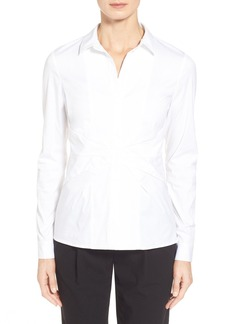 Lafayette 148 New York 'Evalina' Stretch Poplin Shirt