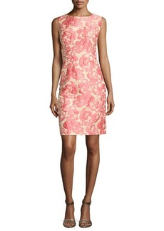 Lafayette 148 New York Evelyn Embroidered Floral Sleeveless Dress