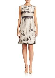 Lafayette 148 New York Evelyn Floral-Jacquard Dress