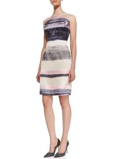 Lafayette 148 New York Evelyn Striped Silk Sleeveless Dress  Evelyn Striped Silk Sleeveless Dress