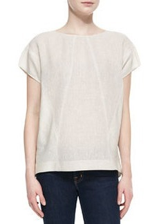 Lafayette 148 New York Evi Linen Short-Sleeve Top