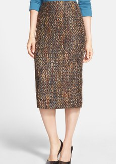 Lafayette 148 New York 'Exemplary' Double Vent Tweed Midi Skirt