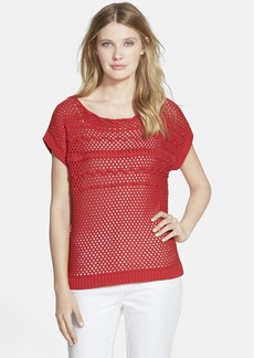 Lafayette 148 New York Eyelet Stitch Sweater