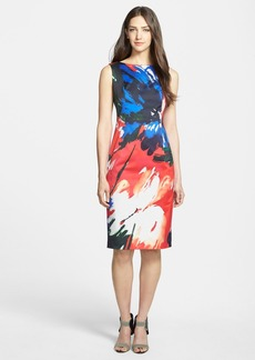 Lafayette 148 New York 'Faith' Print Sleeveless Sheath Dress