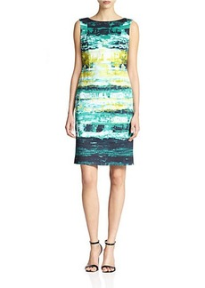 Lafayette 148 New York Faith Printed Sheath