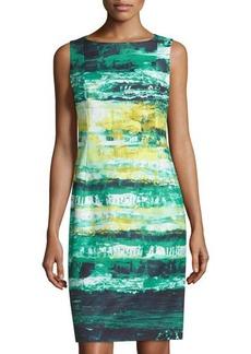 Lafayette 148 New York Faith Printed Sleeveless Dress