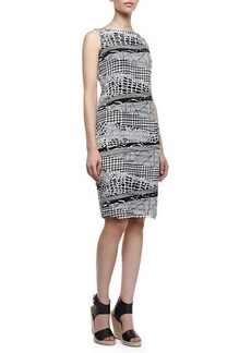 Lafayette 148 New York Faith Silk Two-Color Multi-Print Sleeveless Dress