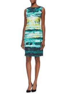 Lafayette 148 New York Faith Sleeveless Abstract-Print Sheath Dress