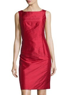 Lafayette 148 New York Faith Sleeveless Silk Dress, Poppy