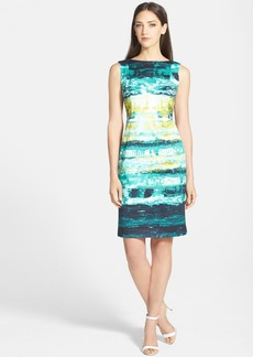 Lafayette 148 New York 'Faith' Stretch Faille Sheath Dress