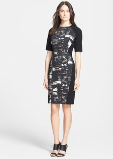 Lafayette 148 New York 'Faryn - Metro Cityscape' Sheath Dress