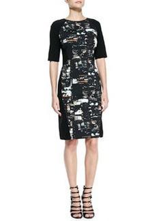 Lafayette 148 New York Faryn City Lights Combo Sheath Dress