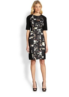 Lafayette 148 New York Faryn Cityscape-Print Dress