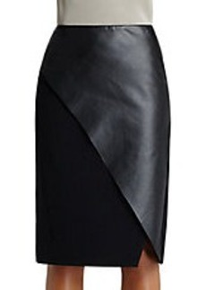 LAFAYETTE 148 NEW YORK Faux Leather Wrap Skirt