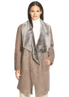 Lafayette 148 New York 'Felice' Long Genuine Shearling Coat