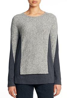 Lafayette 148 New York Felt Bateau-Neck Jersey Sweater