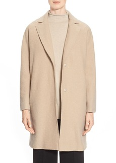 Lafayette 148 New York Felted Wool Notch Collar Topper
