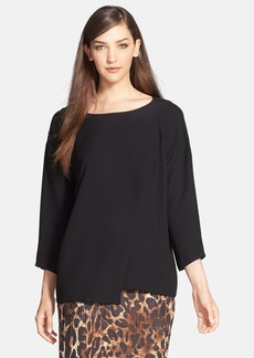 Lafayette 148 New York 'Fern' Silk Georgette Blouse
