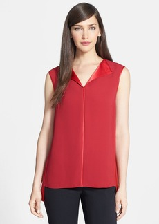 Lafayette 148 New York 'Fierra' Double Silk Georgette Blouse